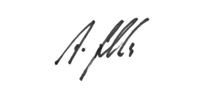 Unterschrift Andreas Fischli