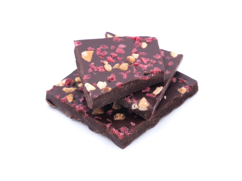 delver schokolade